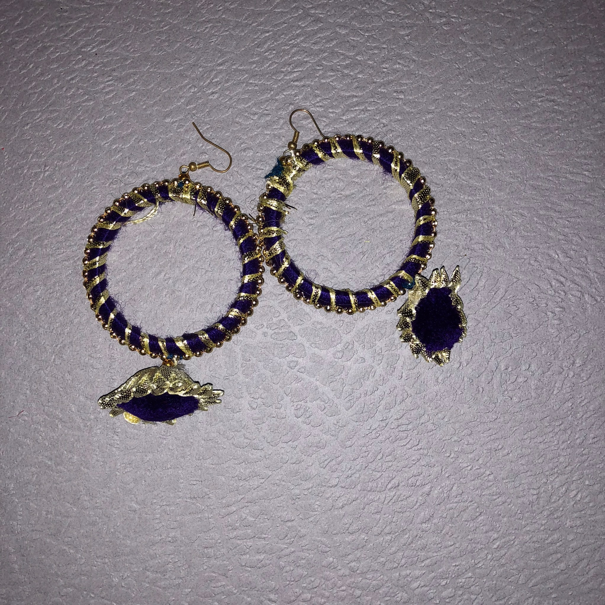 3d8232a79 Gold Trim Gota Earrings - Gendha Phool