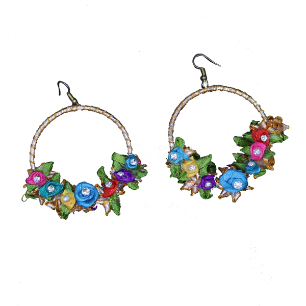 d7a077130 Flower Garden Gota Earrings (Cool) - Gendha Phool