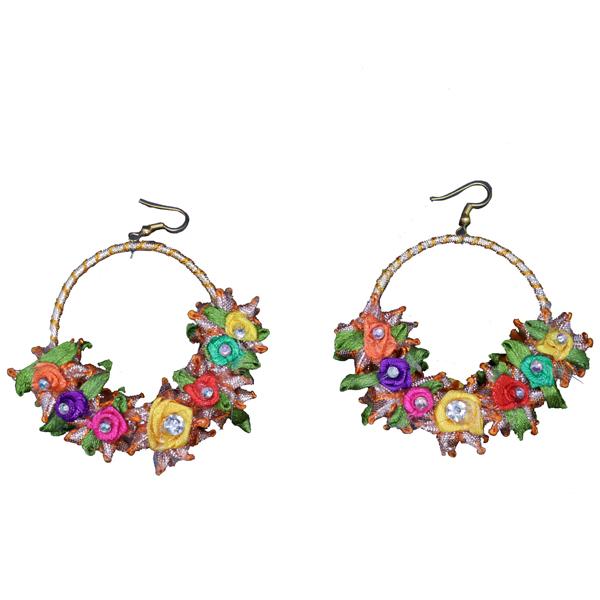 a895ec0cc Flower Garden Gota Earrings (Warm) - Gendha Phool