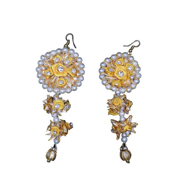 fa6a0e16b Yellow Gota Flower Drop Earrings - Gendha Phool